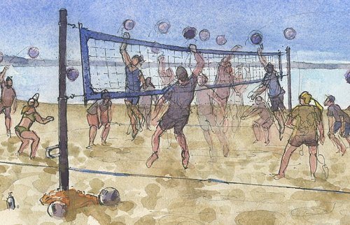 The return of 'Alki Fridays' coed volleyball brings energy back to the beach