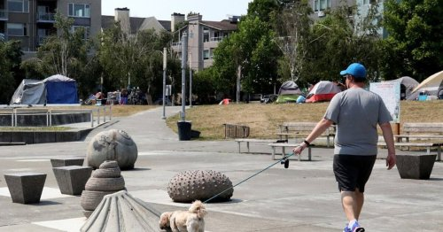 A homeless encampment led Seattle to close a spray park. What does that say about how the city views public spaces?