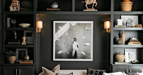 Don't be afraid to try dark, moody colors in your home's design