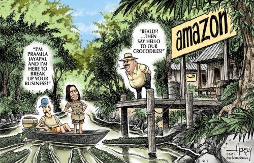 Jayapal takes on Amazon in antitrust fight