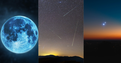 Blue Moon, Perseids Shower, Jupiter-Saturn Opposition, & Other Exciting Events To See This Month.