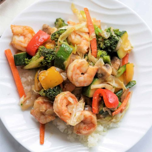 Keto Stir Fry with Shrimp (Low Carb Keto Chinese)