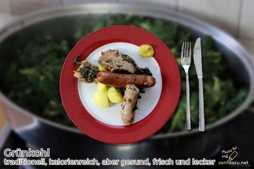 Grünkohl - Rezept - traditionell, kalorienreich, aber gesund, frisch und lecker