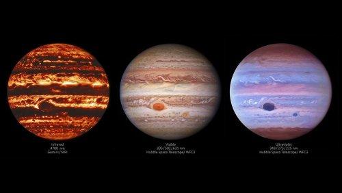 [우주를 보다] 신비로운 가스행성…가시광·적외선·자외선으로 본 목성