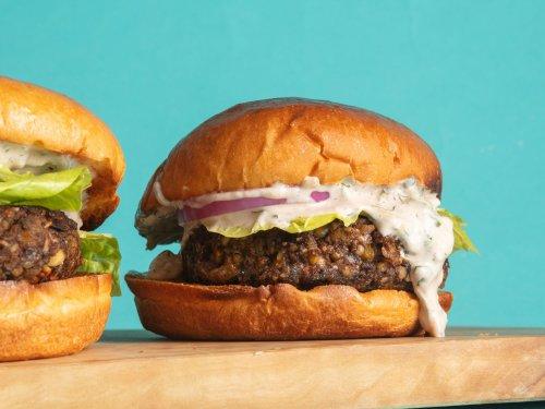 How to Make Hot Sauce-Spiked Mushroom Veggie Burgers