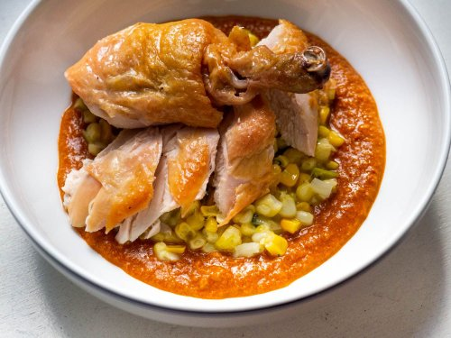 Give Roast Chicken a Late Summer Twist With Buttered Corn and Romesco