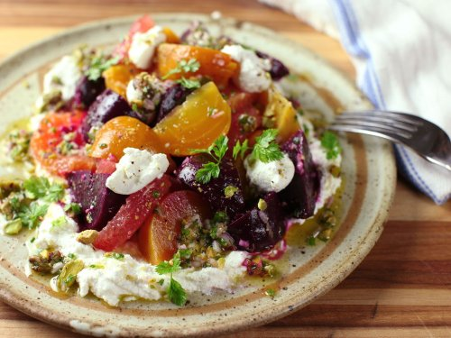 Roasted-Beet and Citrus Salad With Ricotta and Pistachio Vinaigrette Recipe