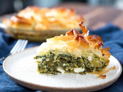 Spanakopita (Greek Savory Greens Pie) Recipe