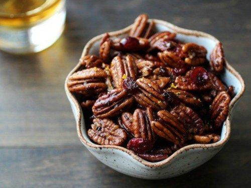 Bourbon Old Fashioned Glazed Pecans Recipe