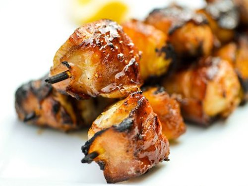 Bacon-Wrapped Chicken Skewers With Pineapple and Teriyaki Sauce Recipe