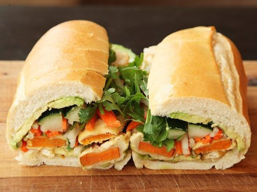 Vietnamese Sandwiches With Tempura Sweet Potato and Avocado (Vegan Banh Mì) Recipe