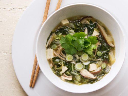 Soba Noodle Soup With Chicken, Tofu, and Bok Choy Recipe