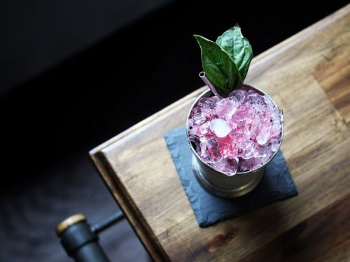Basil Cranberry Julep Recipe