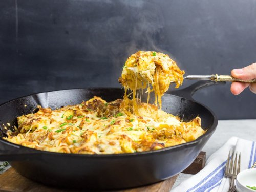 French Onion Strata (Savory Bread Pudding) Recipe