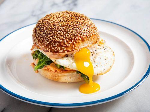 Fried Egg Sandwiches With 'Nduja Mayo and Broccoli Rabe