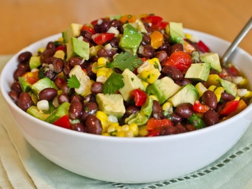 Black Bean, Corn, and Red Pepper Salad With Lime Cilantro Vinaigrette Recipe