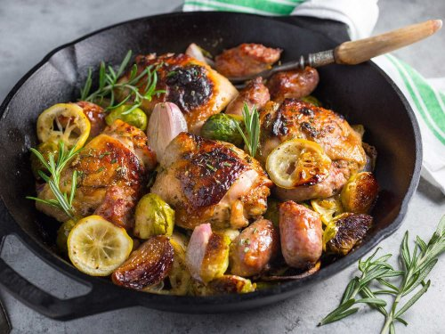 One-Pot Wonder: Chicken, Sausage, and Brussels Sprouts Medley