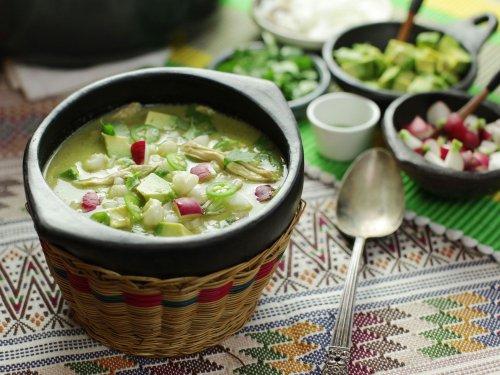 Pozole Verde de Pollo (Green Mexican Hominy and Chicken Soup) Recipe