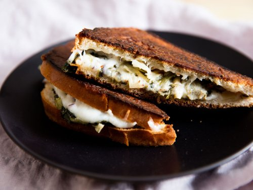 Spinach and Artichoke Grilled Cheese Sandwiches Recipe
