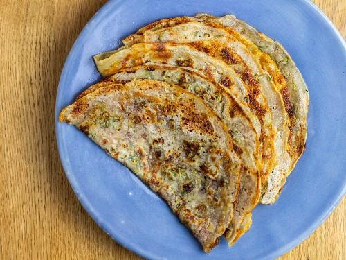 Sourdough Dashi Scallion Pancakes Recipe