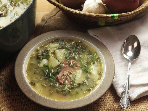 Caldo Verde (Portuguese Potato and Kale Soup With Sausage) Recipe