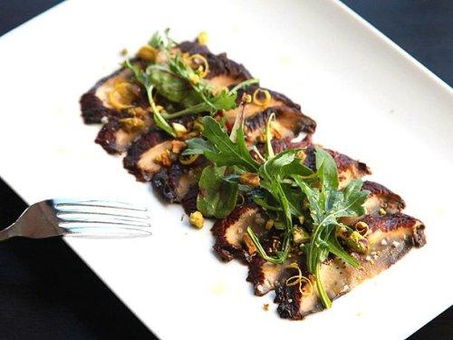 Miso-Marinated Portobello Carpaccio (Vegan) Recipe