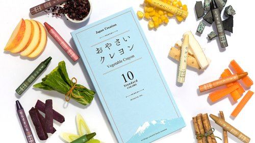 Draw With Vibrant Vegetable Crayons by Naoko Kimura
