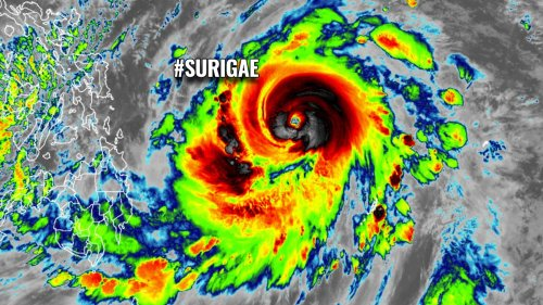 Surigae, the first typhoon of 2021, could become Earth's first Category 5 this year, now heads towards the northern Philippines this weekend