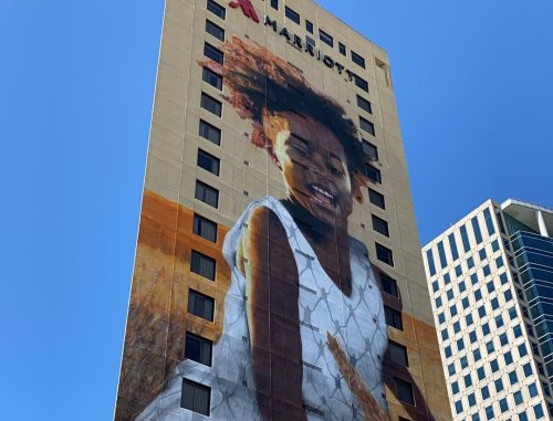 Oakland's Largest Mural Doubles As a Call To End Food Scarcity and World Hunger