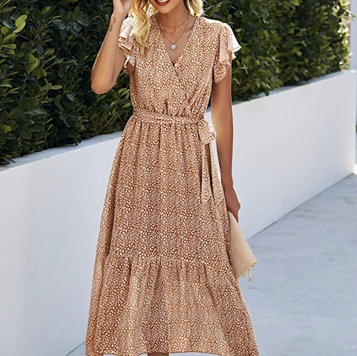 This Cheap Faux-Wrap Maxi Dress Is Comfy, Stylish, Super Flattering