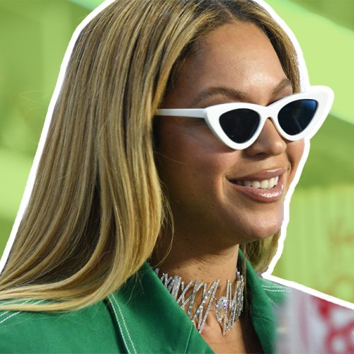 This Neon Mini Dress Might Be The Shortest Thing Beyonce Has Worn, Like, EVER