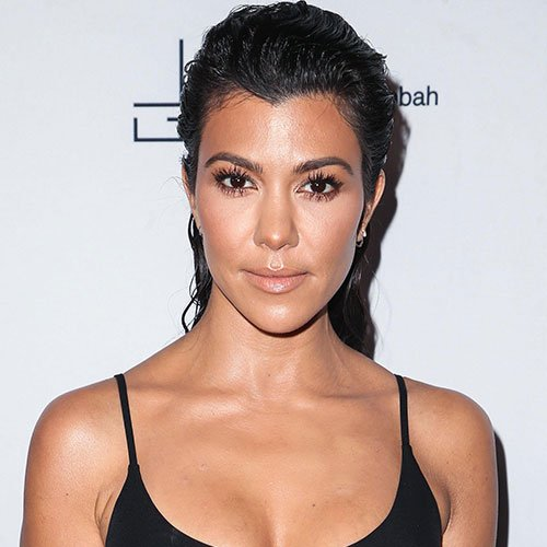 Kourtney Kardashian Is Wearing The Skimpiest Cut Out Dress We've EVER Seen On Instagram (Umm, Her Boobs Are OUT!)