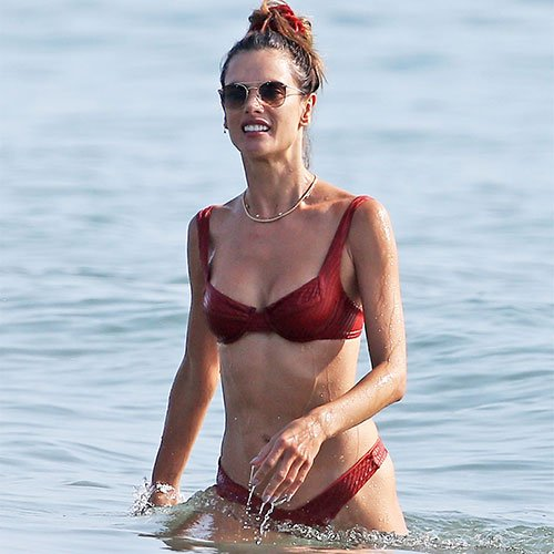 Alessandra Ambrosio Just Wore The Most Revealing Thong Bathing Suit EVER