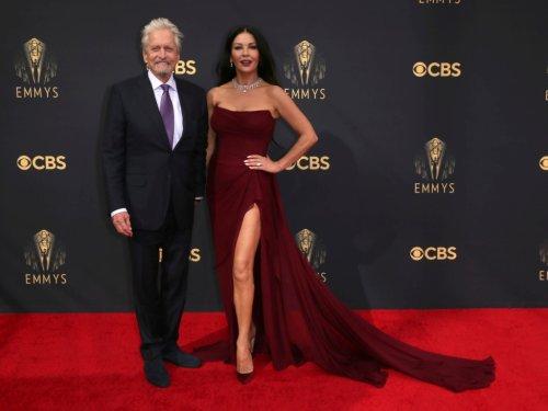 Catherine Zeta-Jones & Michael Douglas Were the Most Glamorous Hollywood Couple at the Emmys Tonight