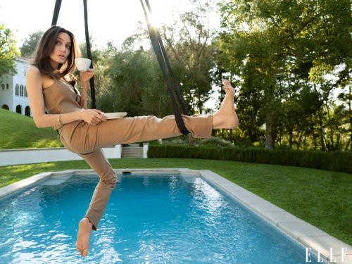 Angelina Jolie Is One Gorgeous Daredevil in These 'ELLE' Photos Taken High in the Sky