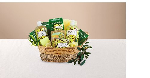 Soothing and refreshing cucumber & olive oil spa gift basket