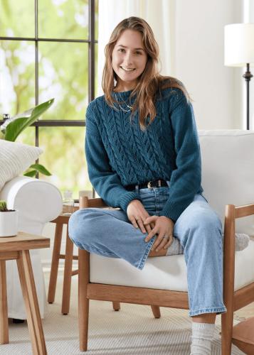 Horseshoe Lace Pullover