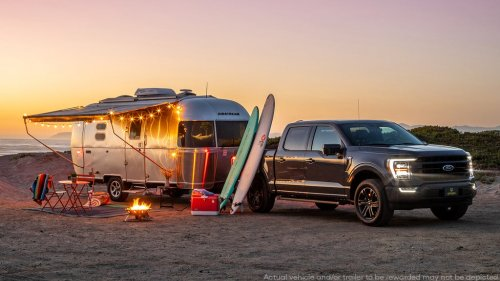 Win an Airstream Caravel and a 2021 Ford F-150 to Tow It