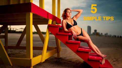 5 GREAT Tips for Beautiful BEACH Portraits (VIDEO)
