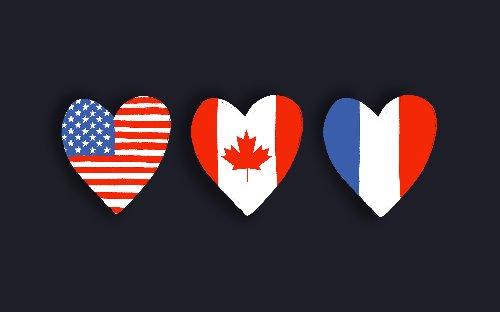 U.S., France, Canada – FREE Patriotic Clip Art Bundle