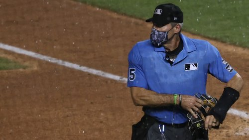 Umpire Angel Hernandez Makes Wrong Call After Being 'Blinded' by Royals Scoreboard