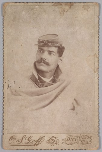 Photograph of a soldier from the 10th US Cavalry