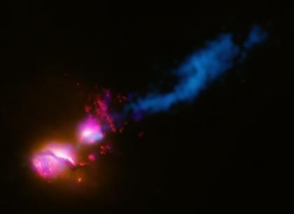 Chandra Press Room :: 'Death Star' Galaxy Black Hole Fires at Neighboring Galaxy :: 17 December 07