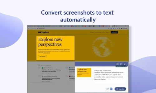 Cet outil convertit et traduit des captures d'écran en texte éditable