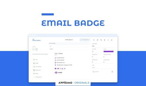EmailBadge : un outil pour créer une signature mail pertinente en moins de 2 minutes !