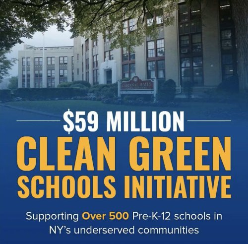 Hochul allots $59M to create 'Clean Green Schools' across New York