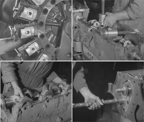 1930s Morris Educational Film: Constructing A Car Engine