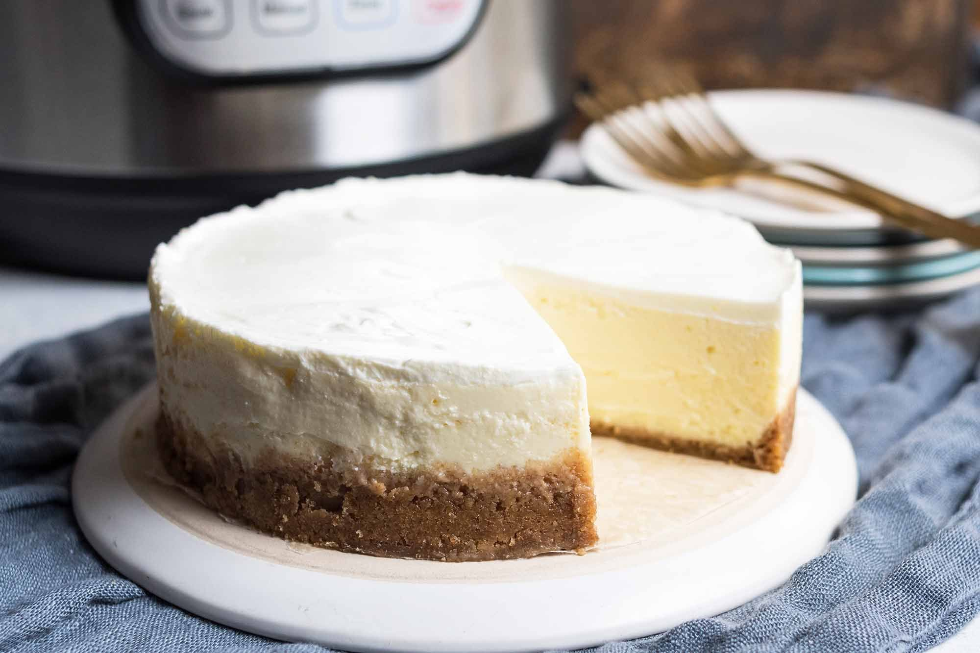 Pressure Cooker Cheesecake + First Look at The Essential Instant Pot Cookbook