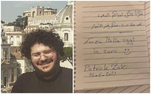 'Grazie per gli auguri e il sostegno': il messaggio di Zaki all'Italia