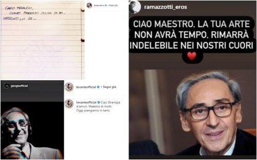 Morto Franco Battiato, da Tiziano Ferro a Giorgia: i ricordi social